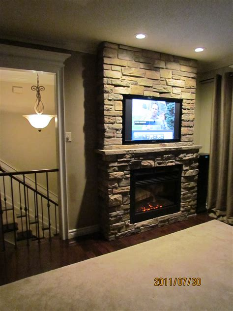 Big Screen Tv Fireplace by Our Own Project Built In Flat Screen Tv And Cultured Fireplace Fireplaces Walls