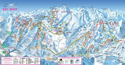 monginevro web cartina montgenevre mappa piste di sci montgenevre