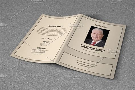 Free Obituary Template For Photoshop 187 Designtube Creative Design Content Free Funeral Program Template Photoshop