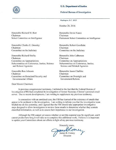Promo Trajan Board fbi says it is investigating more email quot pertinent quot to
