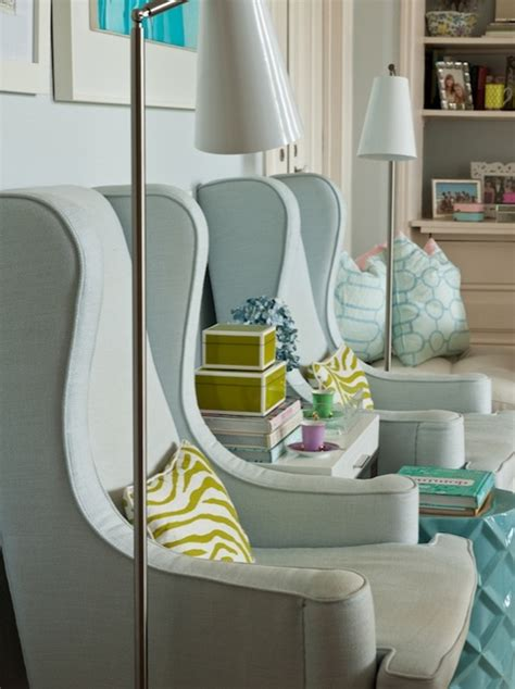 wingback chairs for living room blue wingback chair contemporary living room ana antunes