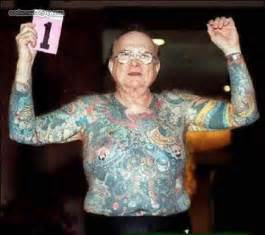 Old Man Tattoo Meme - taturday 74 really old people with tattoos smosh