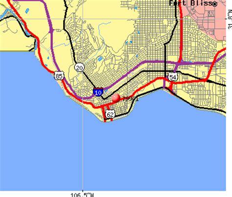 el paso texas zip code map el paso texas zip code map