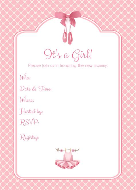Baby Shower Shower by Theme Blank Baby Showers Invitations