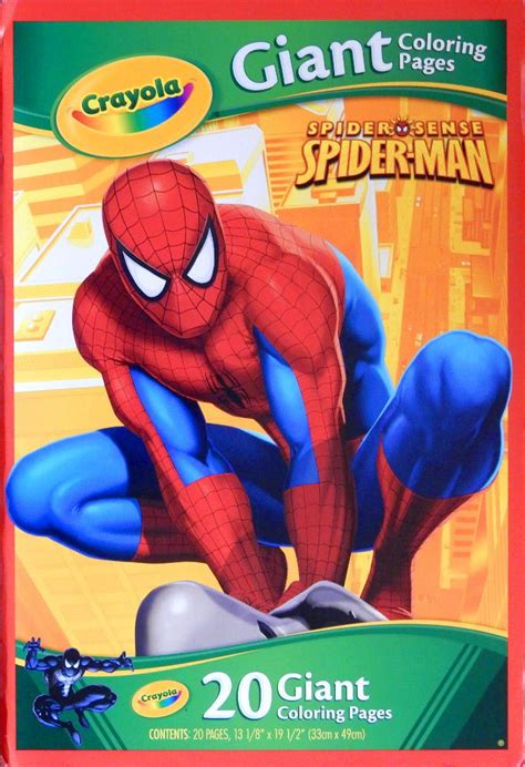 crayola giant coloring pages ultimate spider man spiderfan org comics marvel color activity crayola