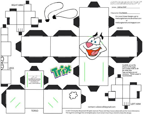 Papercraft Rabbit - adv ch9 trix rabbit cubee by theflyingdachshund on deviantart