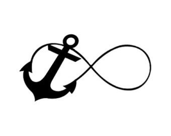 anchor and infinity sign infinity anchor clipart