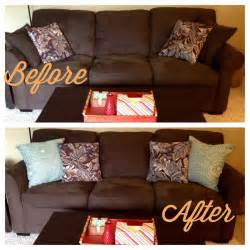 Throw Pillows For Brown Sofa My Own Twist On Things Changes