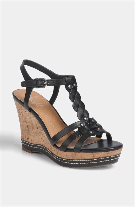 franco sarto black sandals franco sarto suzy sandal in black black leather lyst