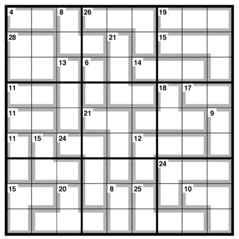 printable killer sudoku easy free sudoku printable puzzles