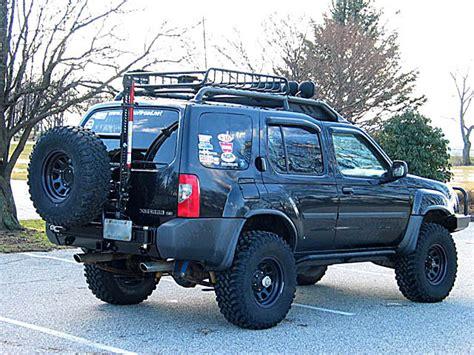 2004 nissan xterra lifted 2000 2004 xterra rear bumper spare tire carrier