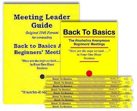 back to the conference special books meeting leader guide original format and 20 back to