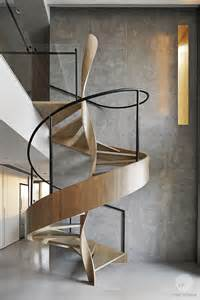 Helix Stairs by A Sculptural Spiral Staircase Makes A Statement In This
