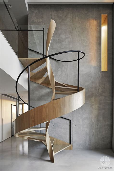 Spiral Stairs Design A Sculptural Spiral Staircase Makes A Statement In This Home S Interior Architecture