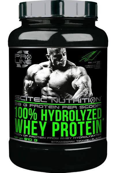 100 Hydrolyzed Whey Protein 910 Gram Scitech Nutrition hydrolyseret protein 100 hydrolyseret whey proteinpulver