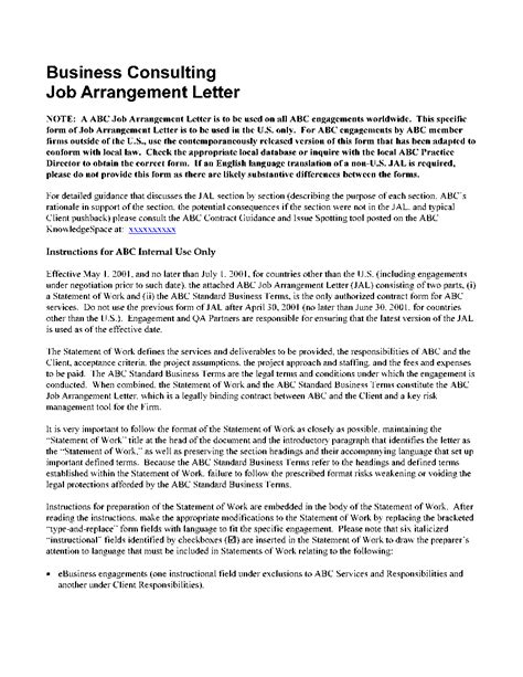 Research Engagement Letter Sle Consulting Engagement Letter Word