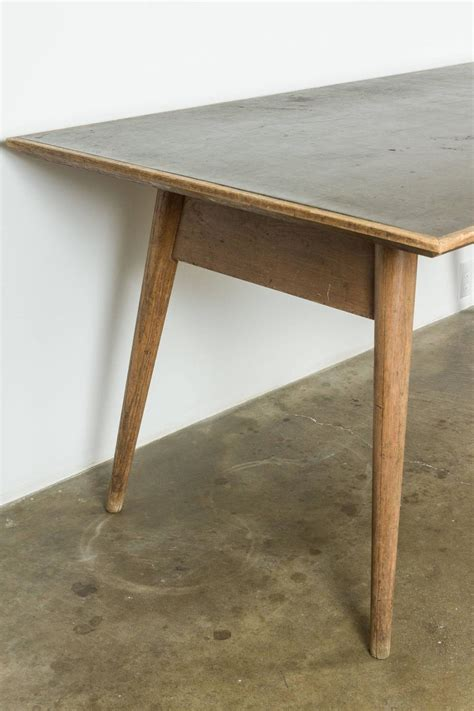 modernist wood and laminate dining table for sale