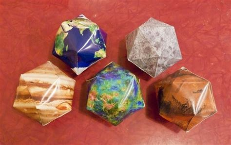 How To Make Paper Planets - how to make icosahedral planet ornaments 171 math craft