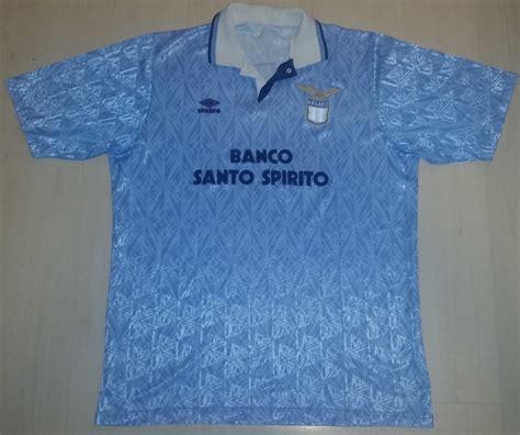 banco spirito santo camisa de jogo lazio 1991 1992 banco santo spirito umbro