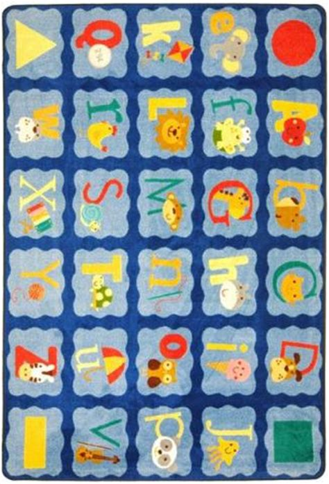 large alphabet rug alphabet blues alphabet rug learner supply