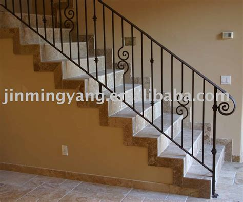Metal Banister Railing by Iron Stair Banisters And Railings Wrought Iron Stair