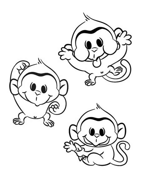 silly monkey coloring pages free coloring pages of three wise monkeys