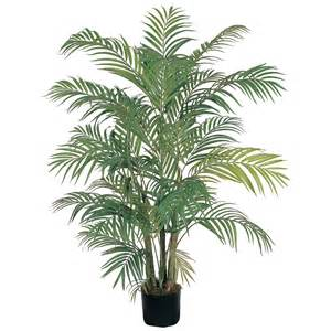 silk plants 4 foot areca palm tree potted 5001