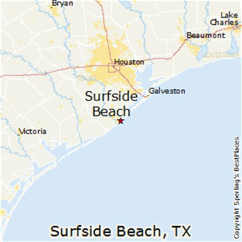 texas beaches map best places to live in surfside texas