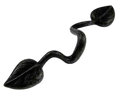 leaf pattern cabinet hardware 5 3 4 inch wrought iron leaf pull black iron