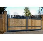 Wood And Iron Sliding Gate  Fences &amp Gates Pinterest