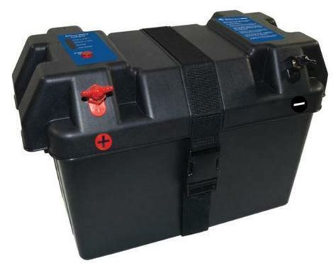 boat battery box with charger marine battery box ebay