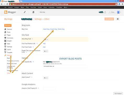 blogger xml to wordpress tempat mencatat import xml posts or file into blogger