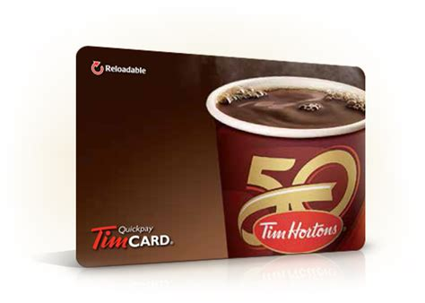 Tim Horton Gift Card - reload your tim card tim hortons