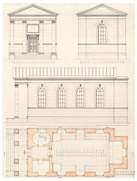 Modern Victorian House Plans Plan Elevations And Sections Of The Primate S Chapel