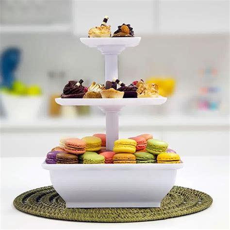 Etalase Kue 3 Tingkat Snack Server jual rak etalase pesta pajang kue roti puding buah pop cup cake stand all things for