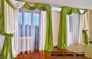 Brown And Green Curtains Designs Green Bedroom Curtains In Scarf Curtain Style Curtain Designs