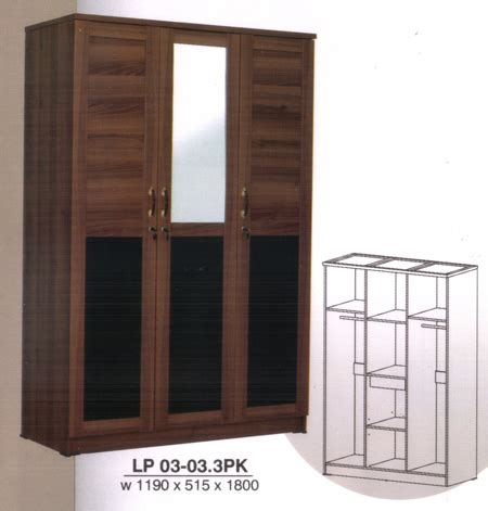 Lemari Pakaian 2 5 Pintu Cermin Lpt 2001 lemari pakaian
