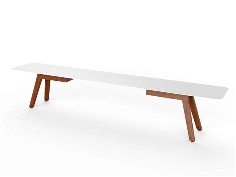 slim tv bench panca in corian 174 e legno slim wood bench 240 by viteo