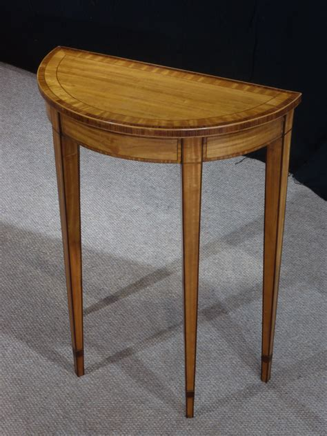 small antique console table satinwood table demi lune