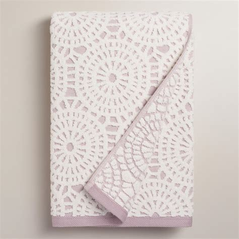lavender bath towels lavender lydia medallion sculpted bath towel world market