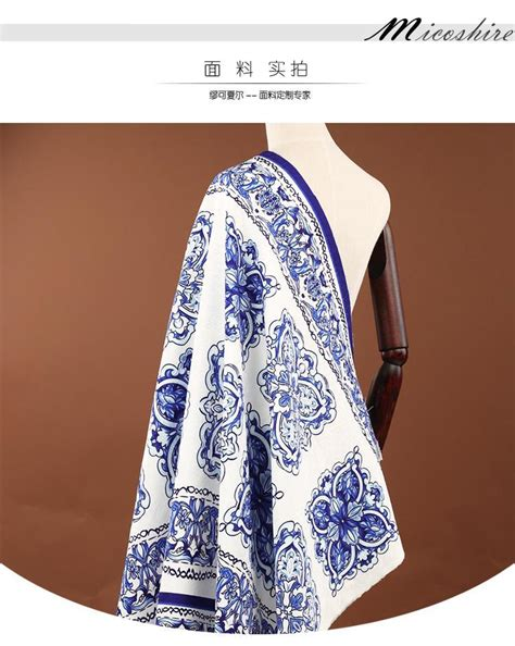 Zarra Dress Jacquard Kutung Import Quality 140 80cm blue and white porcelain jacquard brocade fabric for and autumn dress jacket clothes