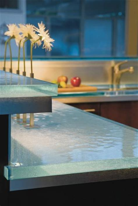 Solid Glass Countertops by Glass Kitchen Countertops Style Estate