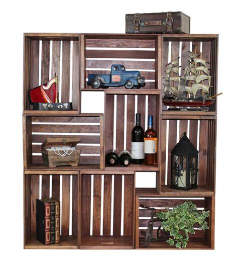 Holzkisten Wand by Aus Holzkisten Lassen Sich Praktische M 246 Bel Und
