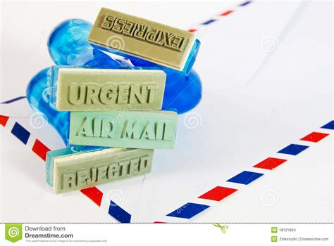 air mail rubber st variety of rubber st on air mail stock images image