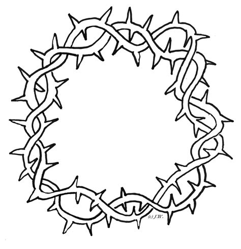 Crown Of Thorns Coloring Page crown of thorns clipart cliparts co