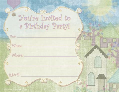 free printable party invitations free printable kids and