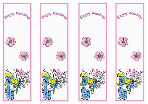 printable birthday bookmarks smurfs bookmarks birthday printable