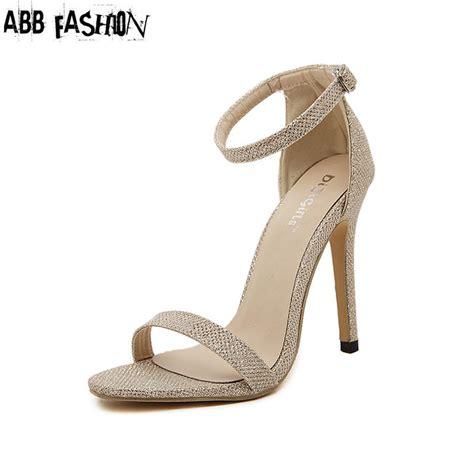 Sandal High Heels Gladiator Selop Tali Gold Silver Kulit 5cm gold sandal heels promotion shop for promotional gold sandal heels on aliexpress