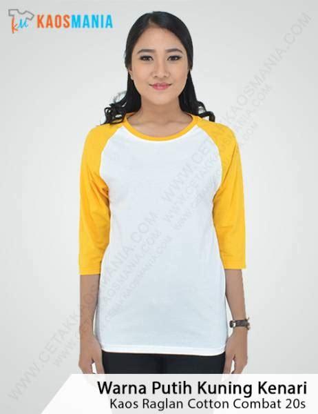 Baju Kaos Raglan Polos Cotton 20s Unisex Xl kaos raglan lengan 3 4 bahan cotton combat 20s