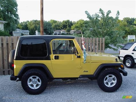 2000 solar yellow jeep wrangler se 4x4 15811362 gtcarlot car color galleries